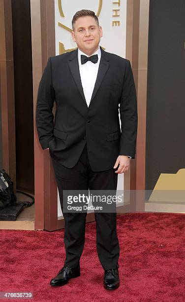Actor Jonah Hill arrives at the 86th Annual Academy Awards at Hollywood Highland Center on March 2 2014 in Hollywood California