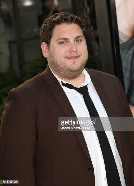 Actor Jonah Hill arrives at the premiere Of Universal Pictures' Funny People held at ArcLight Cinemas Cinerama Dome on July 20 2009 in Hollywood...