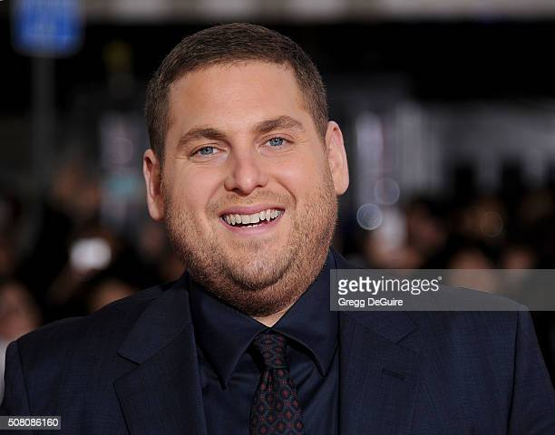 Actor Jonah Hill arrives at the premiere of Universal Pictures' Hail Caesar at Regency Village Theatre on February 1 2016 in Westwood California