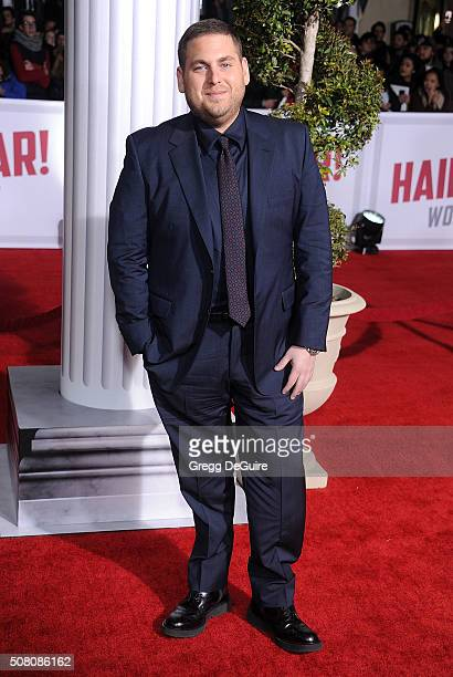 Actor Jonah Hill arrives at the premiere of Universal Pictures' 'Hail Caesar' at Regency Village Theatre on February 1 2016 in Westwood California