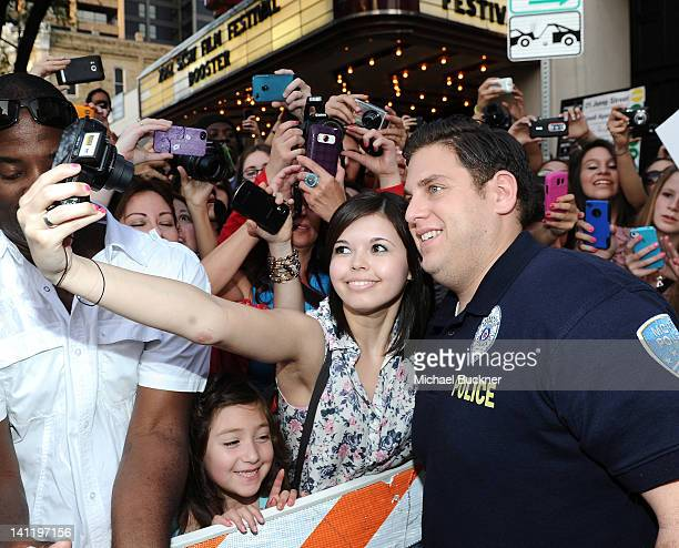 Actor Jonah Hill arrives at the World Premiere of '21 Jump Street' during the 2012 SXSW Music Film Interactive Festival at Paramount Theater on March...