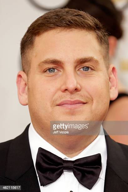 Actor Jonah Hill attends the 71st Annual Golden Globe Awards held at The Beverly Hilton Hotel on January 12 2014 in Beverly Hills California
