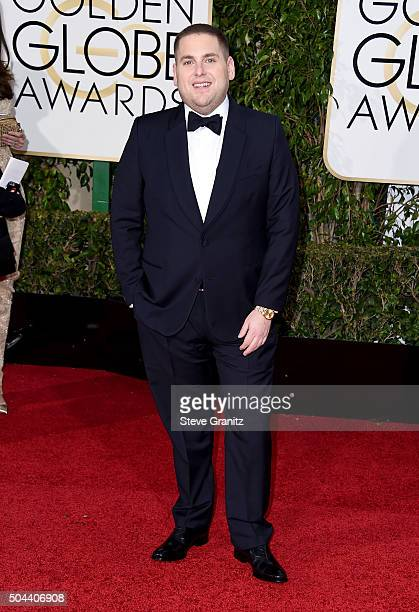 Actor Jonah Hill attends the 73rd Annual Golden Globe Awards held at the Beverly Hilton Hotel on January 10 2016 in Beverly Hills California