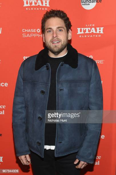 Actor Jonah Hill attends the Don't Worry He Won't Get Far On Foot Premiere during the 2018 Sundance Film Festival at Eccles Center Theatre on January...