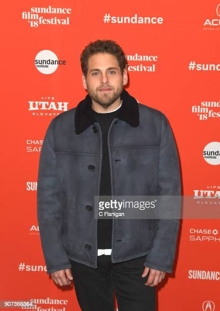 Actor Jonah Hill attends the 'Don't Worry He Won't Get Far On Foot' Premiere during the 2018 Sundance Film Festival at Eccles Center Theatre on...