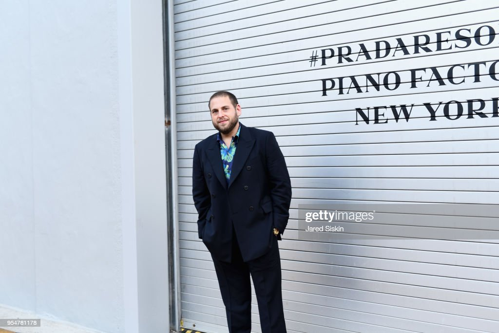 Actor Jonah Hill attends the Prada Resort 2019 fashion show on May 4, 2018 in New York City.