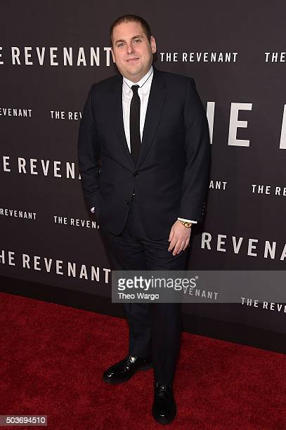 Actor Jonah Hill attends 'The Revenant' New York special screening on January 6 2016 in New York City