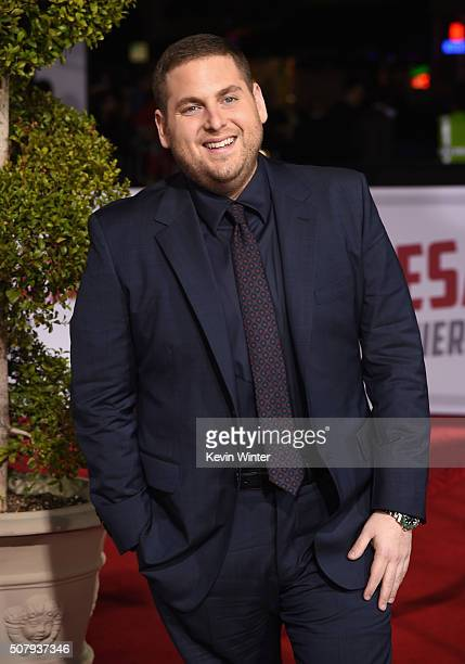 Actor Jonah Hill attends Universal Pictures' 'Hail Caesar' premiere at Regency Village Theatre on February 1 2016 in Westwood California