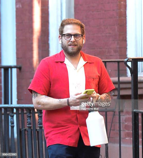 Actor Jonah Hill is seen on July 11 2018 in New York City