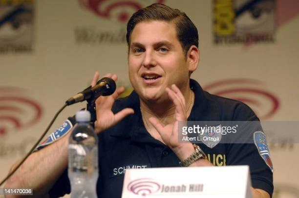 Actor Jonah Hill promotes the Sony film '21 Jumpstreet' at the 2012 WonderCon Day 1 held at Anaheim Convention Center on March 16 2012 in Anaheim...