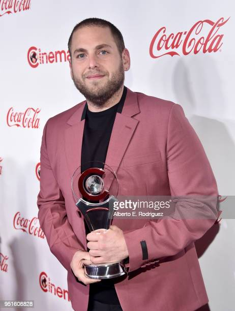 Actor Jonah Hill recipient of the CinemaCon Vanguard Award attends the CinemaCon Big Screen Achievement Awards brought to you by the CocaCola Company...