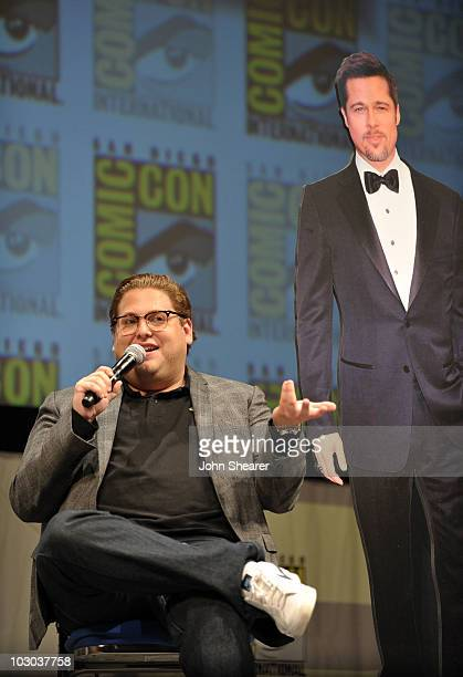 """Actor Jonah Hill speaks at the """"Megamind"""" panel during Comic-Con 2010 at San Diego Convention Center on July 22, 2010 in San Diego, California."""