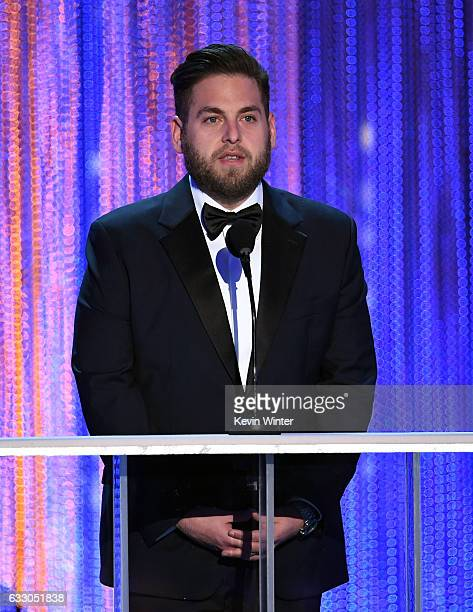 Actor Jonah Hill speaks onstage during The 23rd Annual Screen Actors Guild Awards at The Shrine Auditorium on January 29 2017 in Los Angeles...