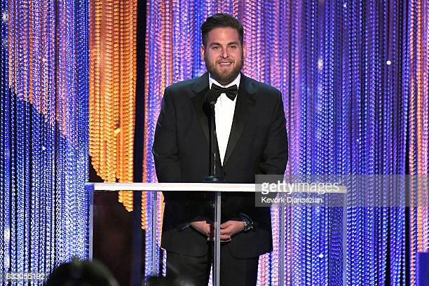 Actor Jonah Hill speaks onstage during the 23rd Annual Screen Actors Guild Awards at The Shrine Expo Hall on January 29 2017 in Los Angeles California