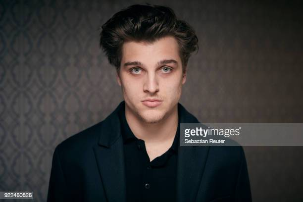 Actor Jonas Dassler poses during the 'The Silent Revolution' portrait session at the 68th Berlinale International Film Festival Berlin at Hotel De...