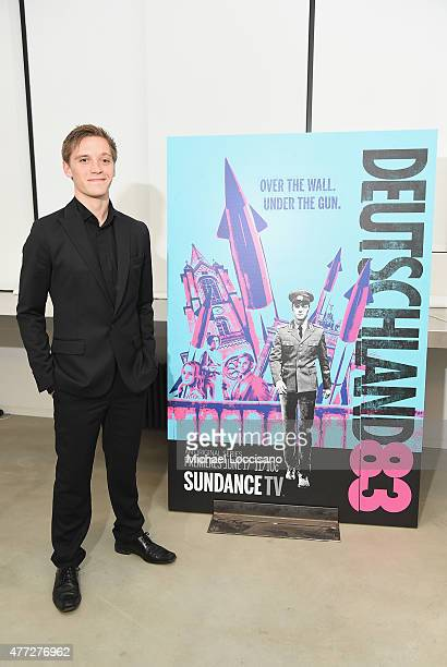 Actor Jonas Nay attends the NY premiere of SundanceTV's Deutschland 83 at the GoetheInstitut New York on June 15 2015 in New York City