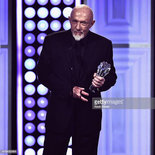 Actor Jonathan Banks accepts the Best Supporting Actor in a Drama Series award for Better Call Saul onstage during the 5th Annual Critics' Choice...