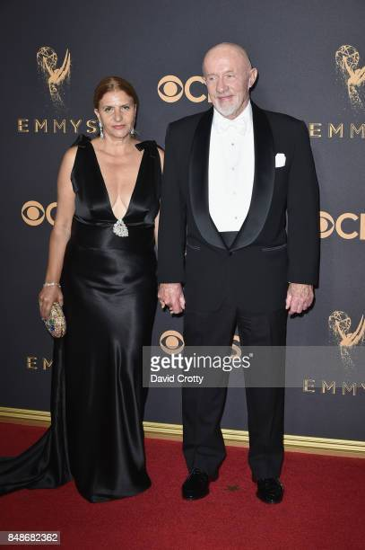 Actor Jonathan Banks and Gennera Bank attend the 69th Annual Primetime Emmy Awards at Microsoft Theater on September 17 2017 in Los Angeles California