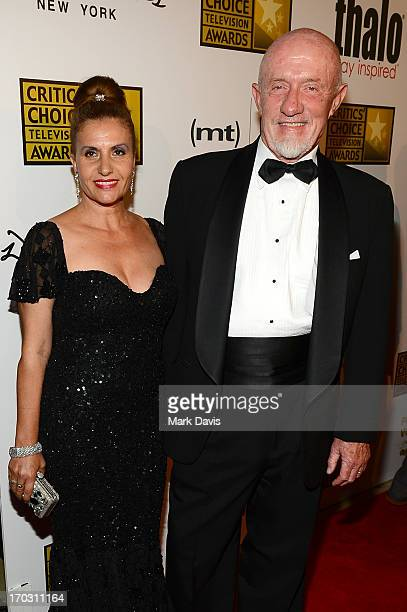 Actor Jonathan Banks and Gennera Banks arrive at Broadcast Television Journalists Association's third annual Critics' Choice Television Awards at The...