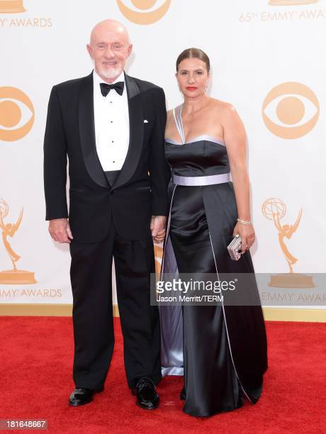 Actor Jonathan Banks and Gennera Banks arrive at the 65th Annual Primetime Emmy Awards held at Nokia Theatre LA Live on September 22 2013 in Los...