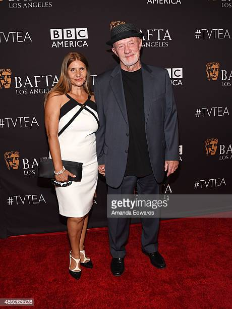 Actor Jonathan Banks and Gennera Banks arrive at the BAFTA Los Angeles TV Tea 2015 at the SLS Hotel on September 19 2015 in Beverly Hills California