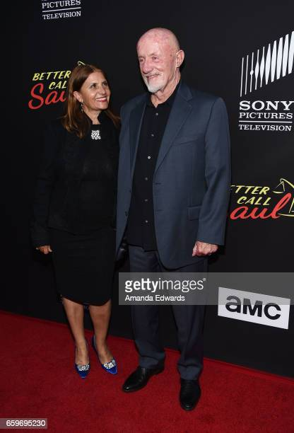 """Actor Jonathan Banks and Gennera Banks arrive at the premiere of AMC's """"Better Call Saul"""" Season 3 at Arclight Cinemas Culver City on March 28, 2017..."""