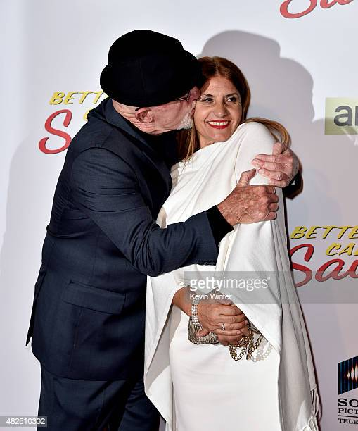 Actor Jonathan Banks and Gennera Banks arrive at the series premiere of AMC's Better Call Saul at the Regal Cinemas LA Live on January 29 2015 in Los...
