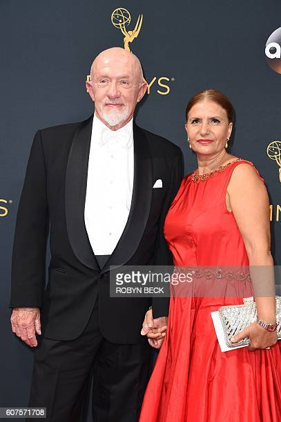Actor Jonathan Banks and Gennera Banks arrive for the 68th Emmy Awards on September 18 2016 at the Microsoft Theatre in Los Angeles / AFP / Robyn Beck