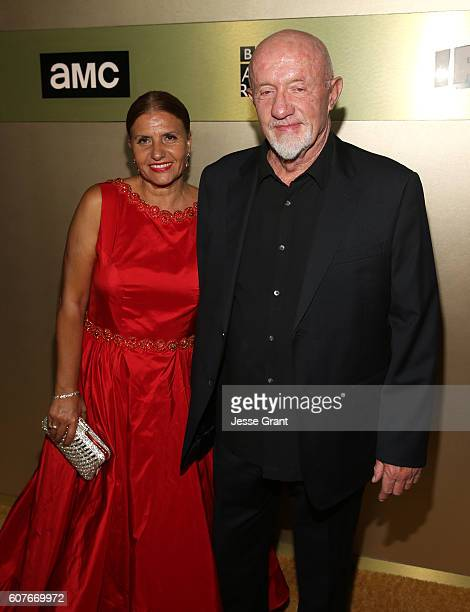 Actor Jonathan Banks and Gennera Banks attend AMC Networks Emmy Party at BOA Steakhouse on September 18 2016 in West Hollywood California