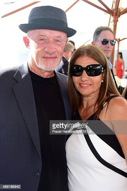 Actor Jonathan Banks and Gennera Banks attend the 2015 BAFTA Los Angeles TV Tea at SLS Hotel on September 19, 2015 in Beverly Hills, California.