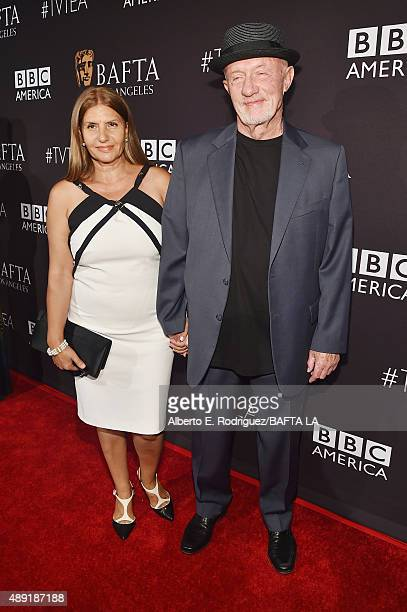 Actor Jonathan Banks and Gennera Banks attend the 2015 BAFTA Los Angeles TV Tea at SLS Hotel on September 19 2015 in Beverly Hills California