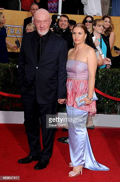 Actor Jonathan Banks and Gennera Banks attend the 20th Annual Screen Actors Guild Awards at The Shrine Auditorium on January 18 2014 in Los Angeles...