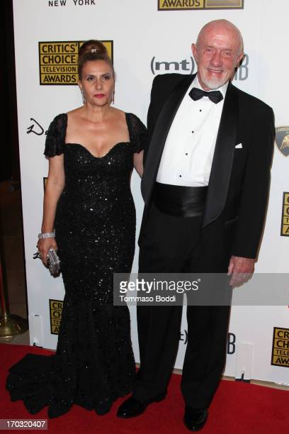 Actor Jonathan Banks and Gennera Banks attend the BTJA Critics' Choice Television Award held at The Beverly Hilton Hotel on June 10 2013 in Beverly...