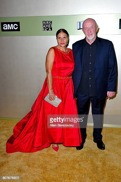Actor Jonathan Banks and wife Gennera Banks attend AMC Networks' 68th Primetime Emmy Awards afterparty celebration at BOA Steakhouse on September 18...