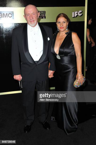 Actor Jonathan Banks and wife Gennera Banks attend AMC Networks 69th Primetime Emmy Awards after party celebration at BOA Steakhouse on September 17...