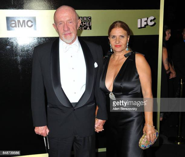 Actor Jonathan Banks and wife Gennera Banks attend AMC Networks 69th Primetime Emmy Awards after party celebration at BOA Steakhouse on September 17,...