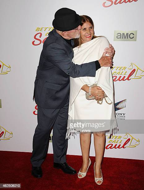 Actor Jonathan Banks and wife Gennera Banks attend the premiere of Better Call Saul at Regal Cinemas LA Live on January 29 2015 in Los Angeles...