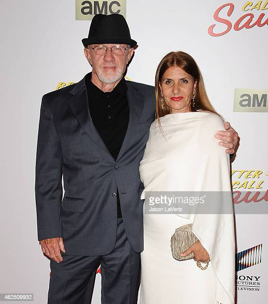 """Actor Jonathan Banks and wife Gennera Banks attend the premiere of """"Better Call Saul"""" at Regal Cinemas L.A. Live on January 29, 2015 in Los Angeles,..."""