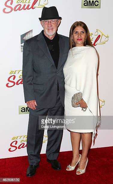 Actor Jonathan Banks and wife Gennera Banks attend the series premiere of AMC's Better Call Saul at Regal Cinemas LA Live on January 29 2015 in Los...