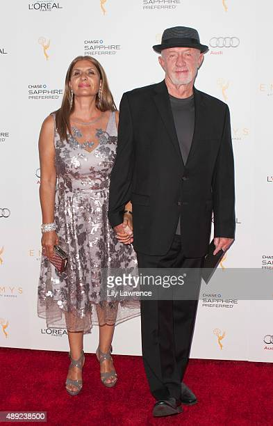 Actor Jonathan Banks arrived with his wife, Gennera, arrives at the Television Academy Celebrates The 67th Emmy Award Nominees for Outstanding...