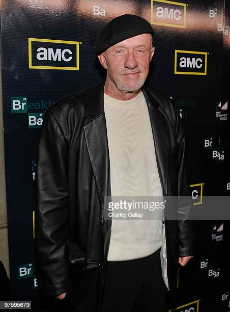 Actor Jonathan Banks attends the Season Three premiere of AMC and Sony Pictures Television's 'Breaking Bad' at the ArcLight Hollywood Cinemas on...