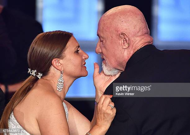 Actor Jonathan Banks celebrates his win for Best Supporting Actor in a Drama Series with Gennera Banks at the 5th Annual Critics' Choice Television...