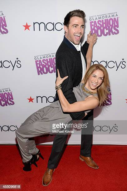 Actor Jonathan Bennett and dancer/actress Allison Holker attend Glamorama Fashion Rocks presented by Macy's Passport at Create Nightclub on September...