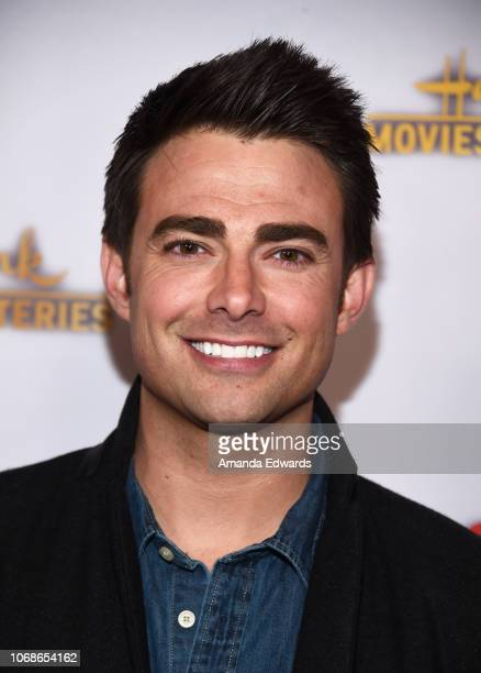 Actor Jonathan Bennett arrives at the Hallmark Channel 'Once Upon A Christmas Miracle' screening and holiday party at 189 by Dominique Ansel on...