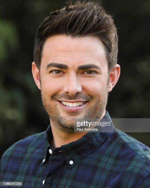 "Actor Jonathan Bennett visits Hallmark Channel's ""Home & Family"" at Universal Studios Hollywood on November 17, 2020 in Universal City, California."