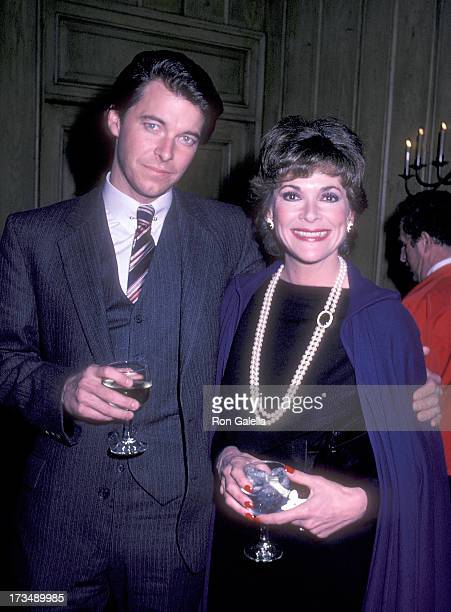 Actor Jonathan Frakes and actress Jessica Walter attend NBC's New Series Bare Essence Promotional Press Conference on February 3 1983 at Chasen's...