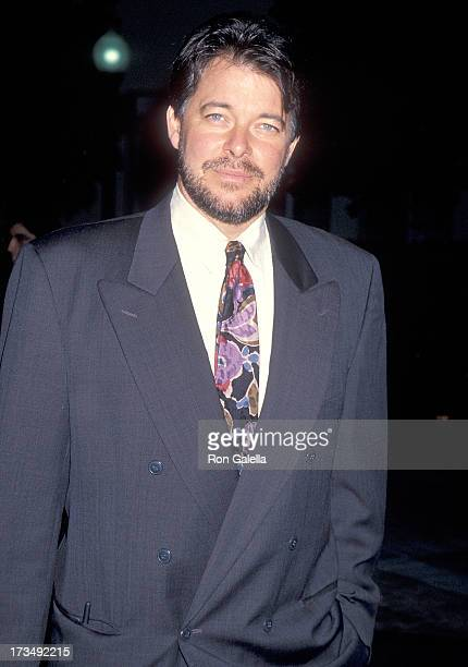 Actor Jonathan Frakes attends the Star Trek Generations Hollywood Premiere on November 17 1994 at Paramount Pictures Studios in Hollywood California
