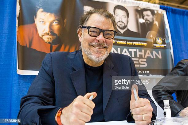 Actor Jonathan Frakes attends the Wizard World New Orleans Comic Con 2012 at Ernest N Morial Convention Center on November 30 2012 in New Orleans...