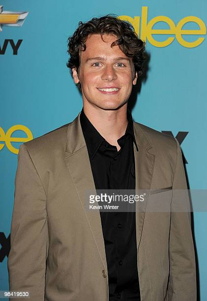 Actor Jonathan Groff arrives at Fox's 'Glee' spring premiere soiree held at Bar Marmont on April 12 2010 in Los Angeles California