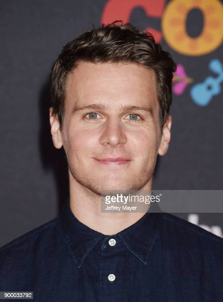 Actor Jonathan Groff arrives at the premiere of Disney Pixar's 'Coco' at El Capitan Theatre on November 8 2017 in Los Angeles California